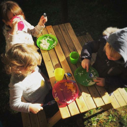 Pranzo in cortile